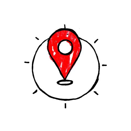 Graphic design of Location icon