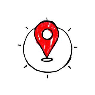 Graphic design of Location icon