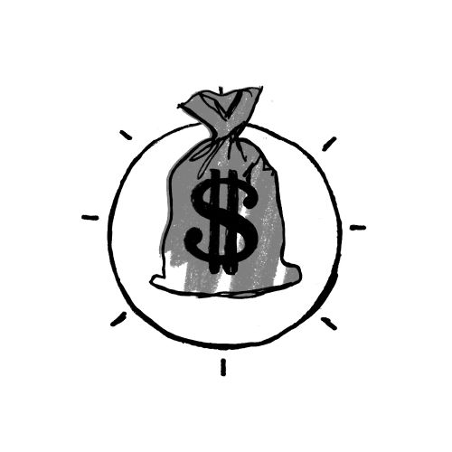 Graphic design of money bag icon