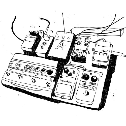 Guitar Pedals Illustration