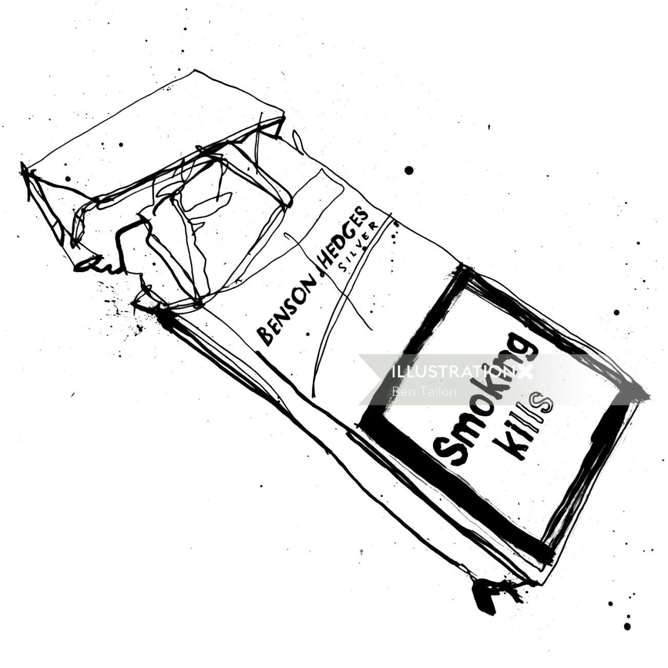 Conceptual illustration of smoking killsby Ben Tallon