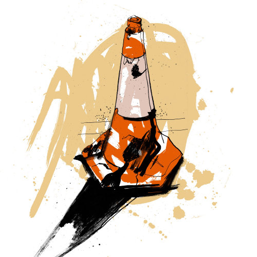 Road Cone illustration by Ben Tallon