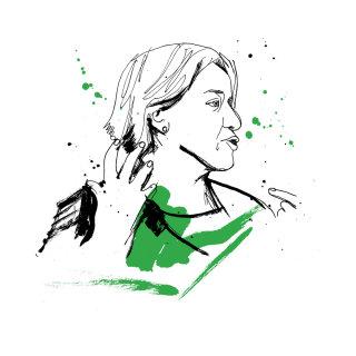 Natalie Bennett portrait by Ben Tallon