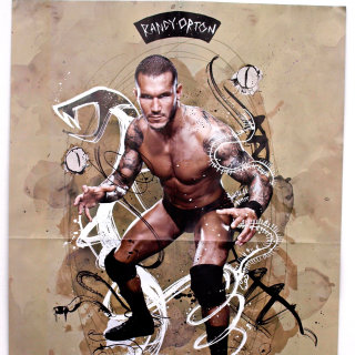 Poster design for WWE champion illustration by Ben Tallon
