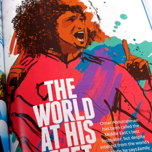 Omar Abdulrahman portrait for Jazeera Magazine