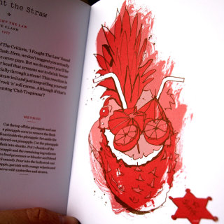 Book illustrations for a 'rocktail' drinks book