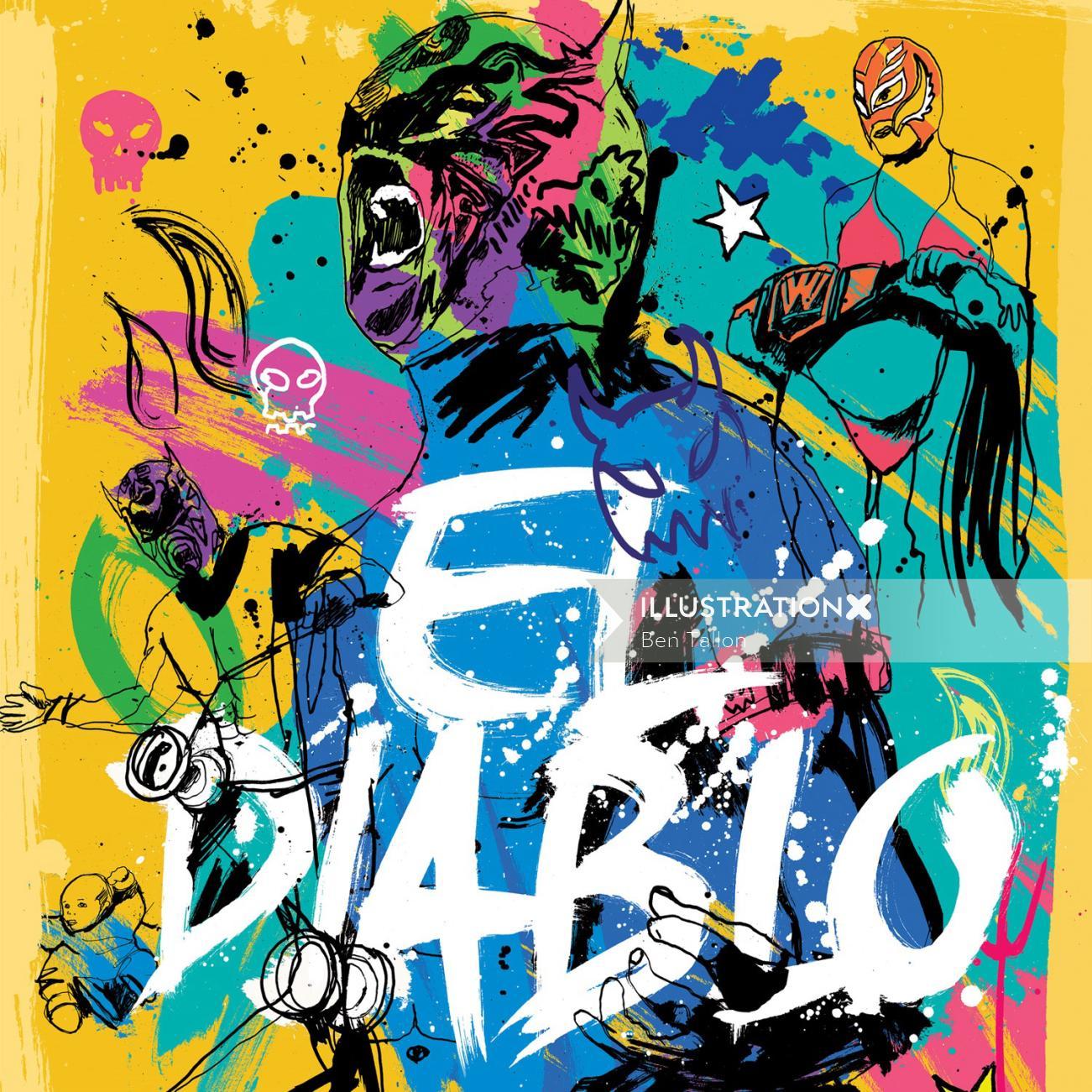 Comic art of El Diablo