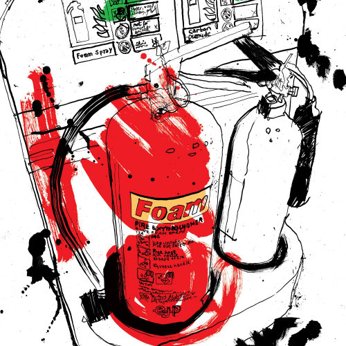 Contemporary illustration of Fire Extinguisher