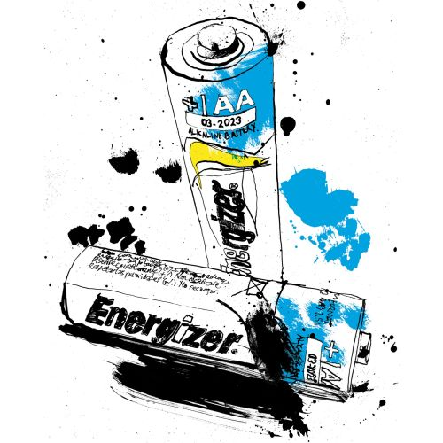 Line drawing of energizer for the 'Know What I Mean Series'