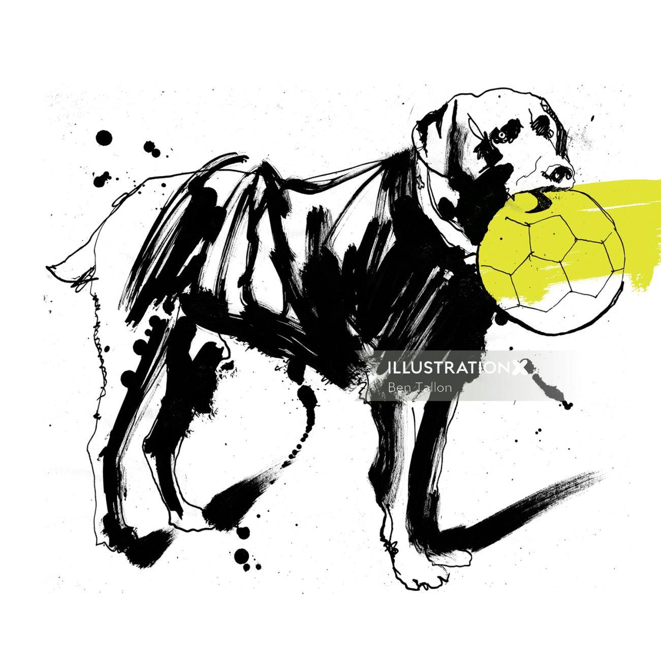 Nikey Dog black and white drawing