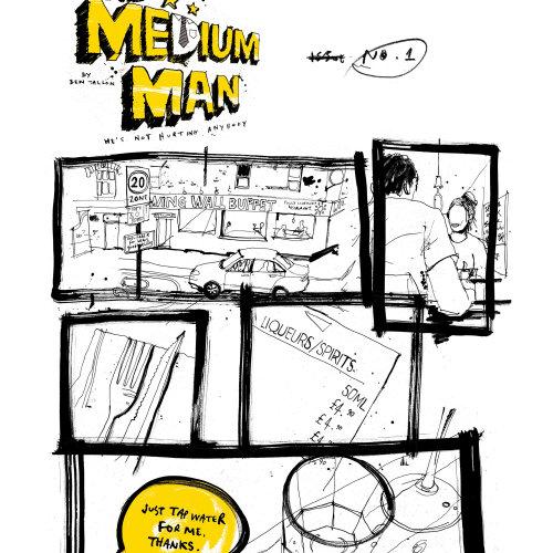 Medium Man novel page illustration