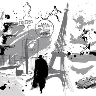 Paris historical art by Ben Tallon