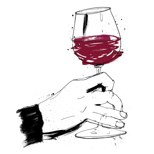 Red wine illustration