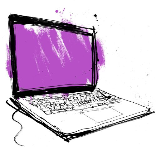 Laptop illustration by Ben Tallon