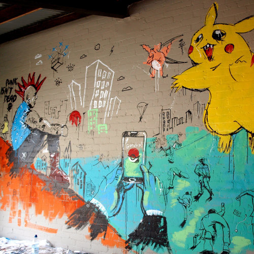 Mural Wall Painting Of Pokemon Go