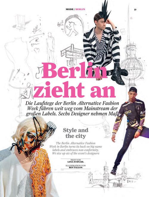 Berlin zieht an poster design