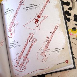 Guitar line illustration