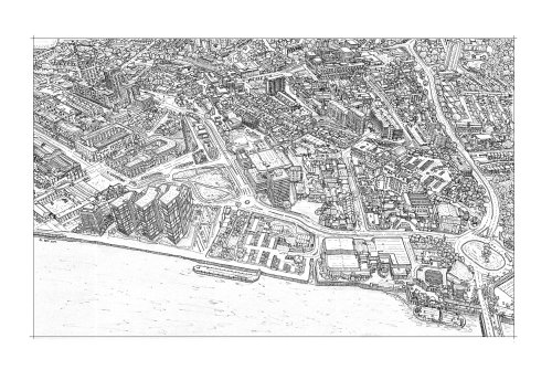 Places & Locations line drawing