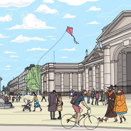 Places & Locations College Green, architectural illustration