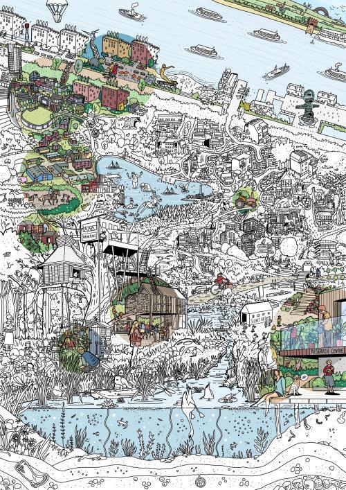有水的城市地图