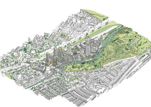 城市和公园地图