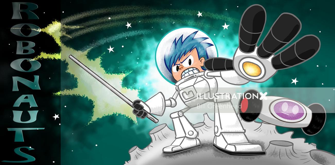 Animated character illustration