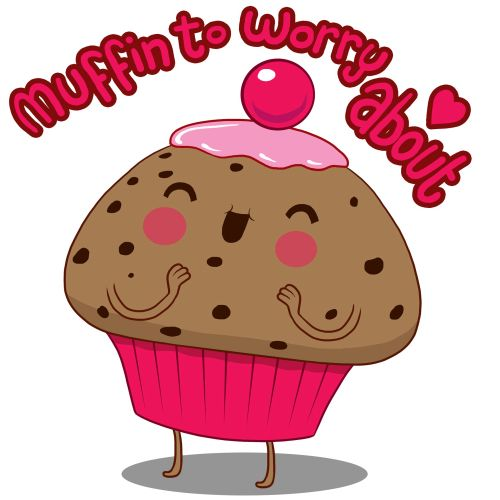 Muffin art for a Tshirt design