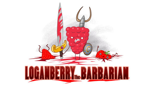 Loganberry the Barbarian comic art