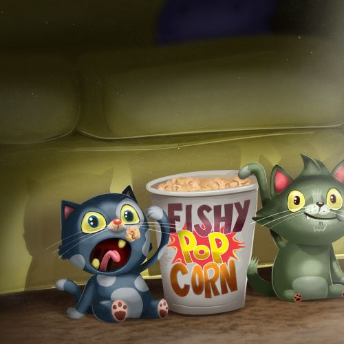 Fuzzballz cat animated series concept art