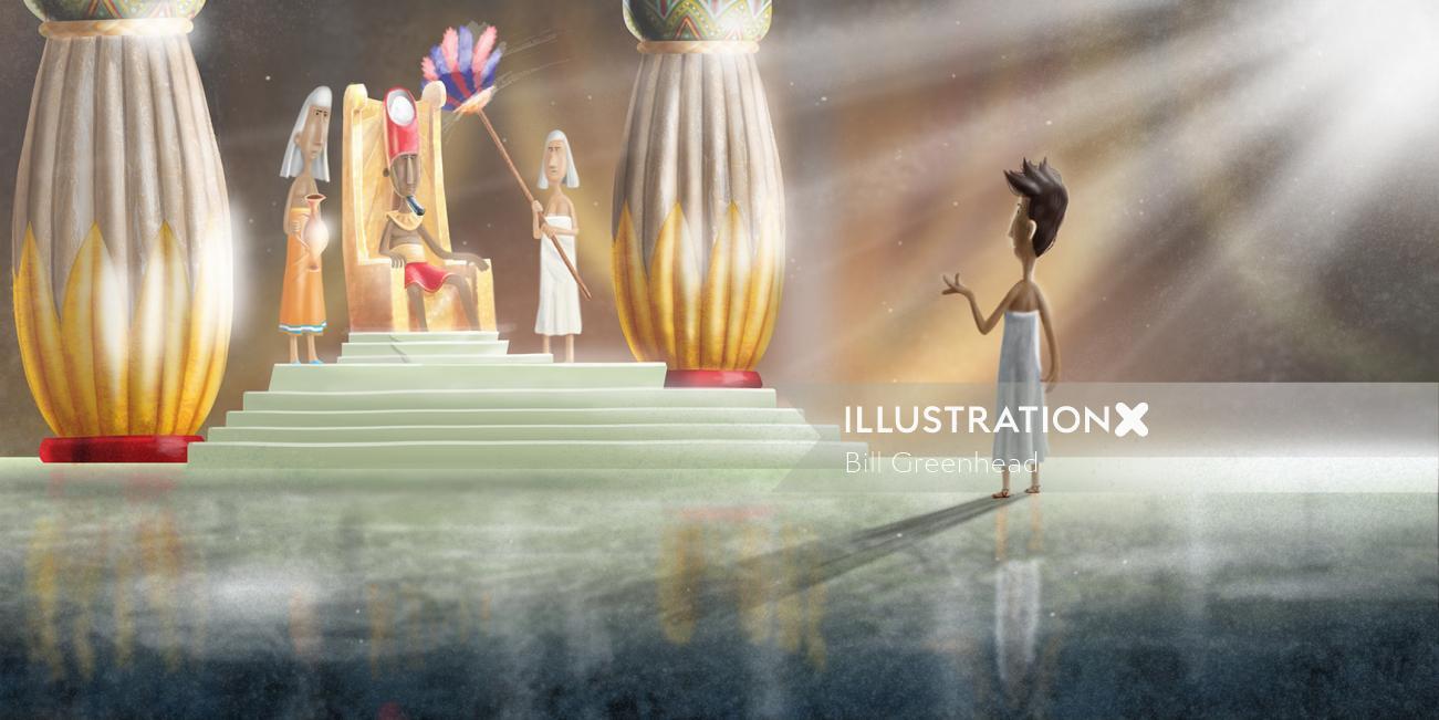 contemporary Artwork for a children's bible