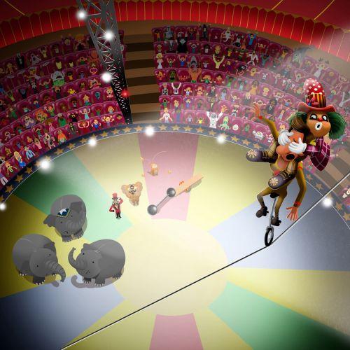 Circus illustration for children book