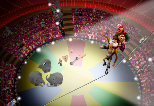 Circus illustration for children book