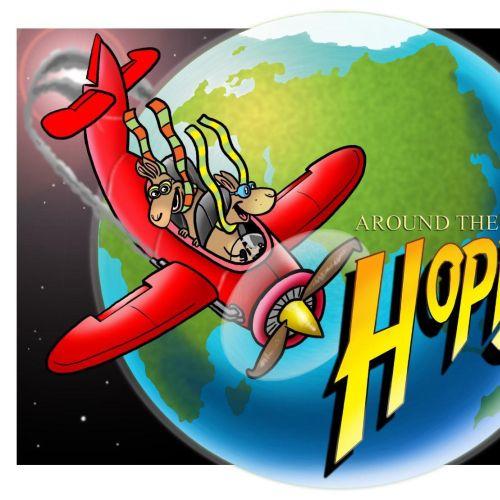 Hoppy and Poppy cosmetics Poster design