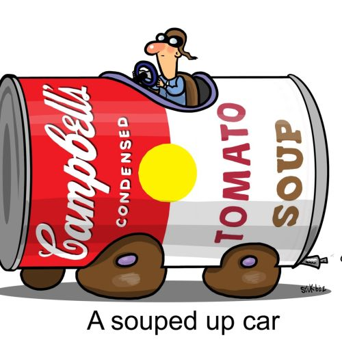A souped up car graphic illustration
