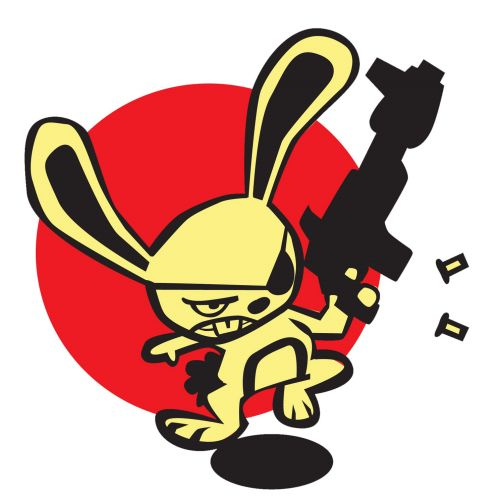 graphic illustration of bad bunny