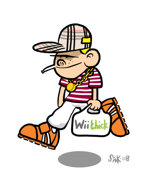 Character design of Man with will thick bag