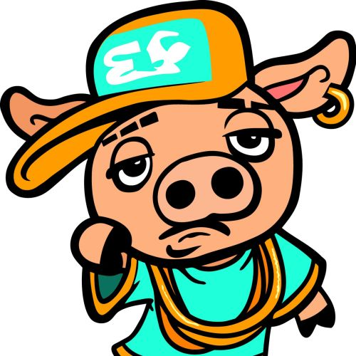 Ghetto pig graphic illustration