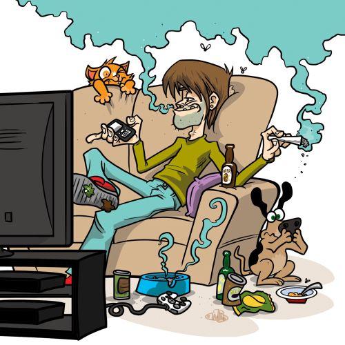 Spliff Dude graphic illustration