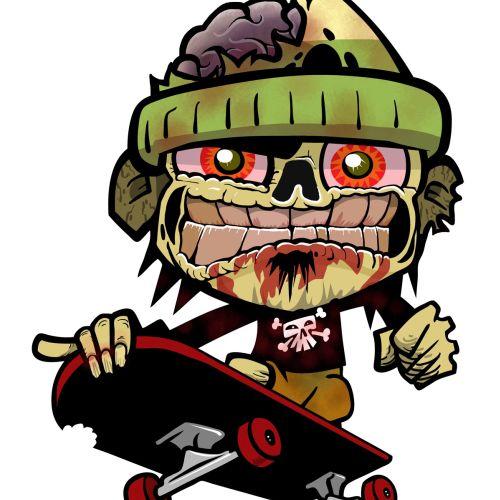 Zombie Zim monster cartoon illustration
