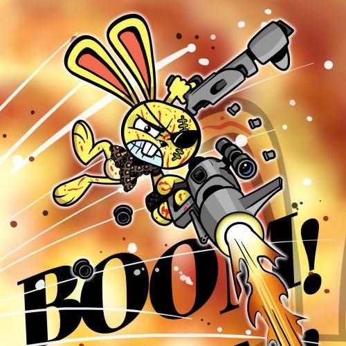 Nitro Bad Bunny poster art by Bill Greenhead