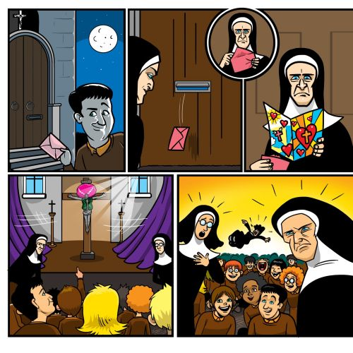 Peter kay's jesus wig book illustration