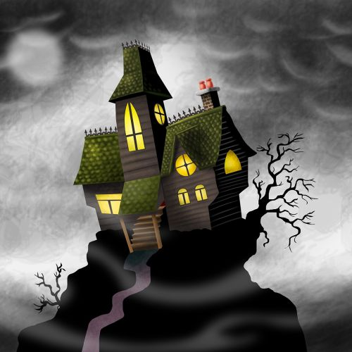 Graphic Scary house
