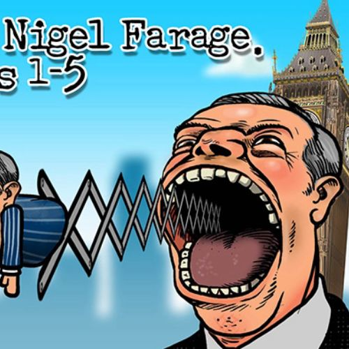 Cartoon characters 101 Uses for Nigel Farage