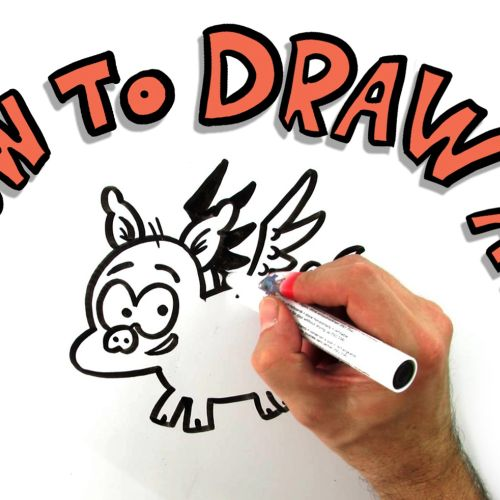 How to draw a pig animation video