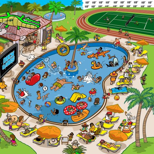 Thomas Cook swimming pool illustration