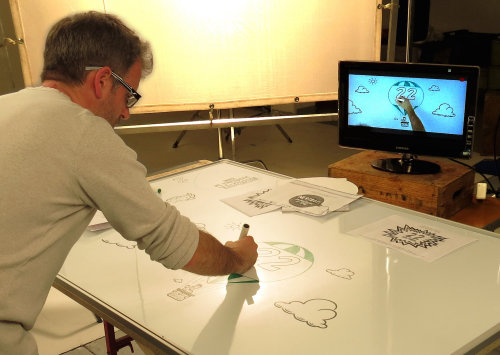 Live drawing by Bill Greenhead
