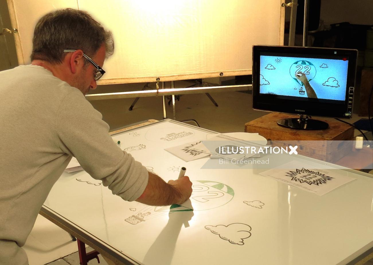 Live drawing by Bill Greenhead
