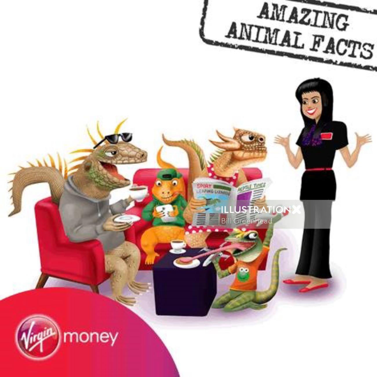 3d Virgin money animals
