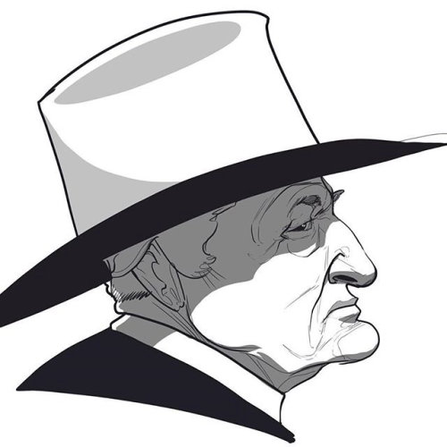 Caricature of Bob Katter