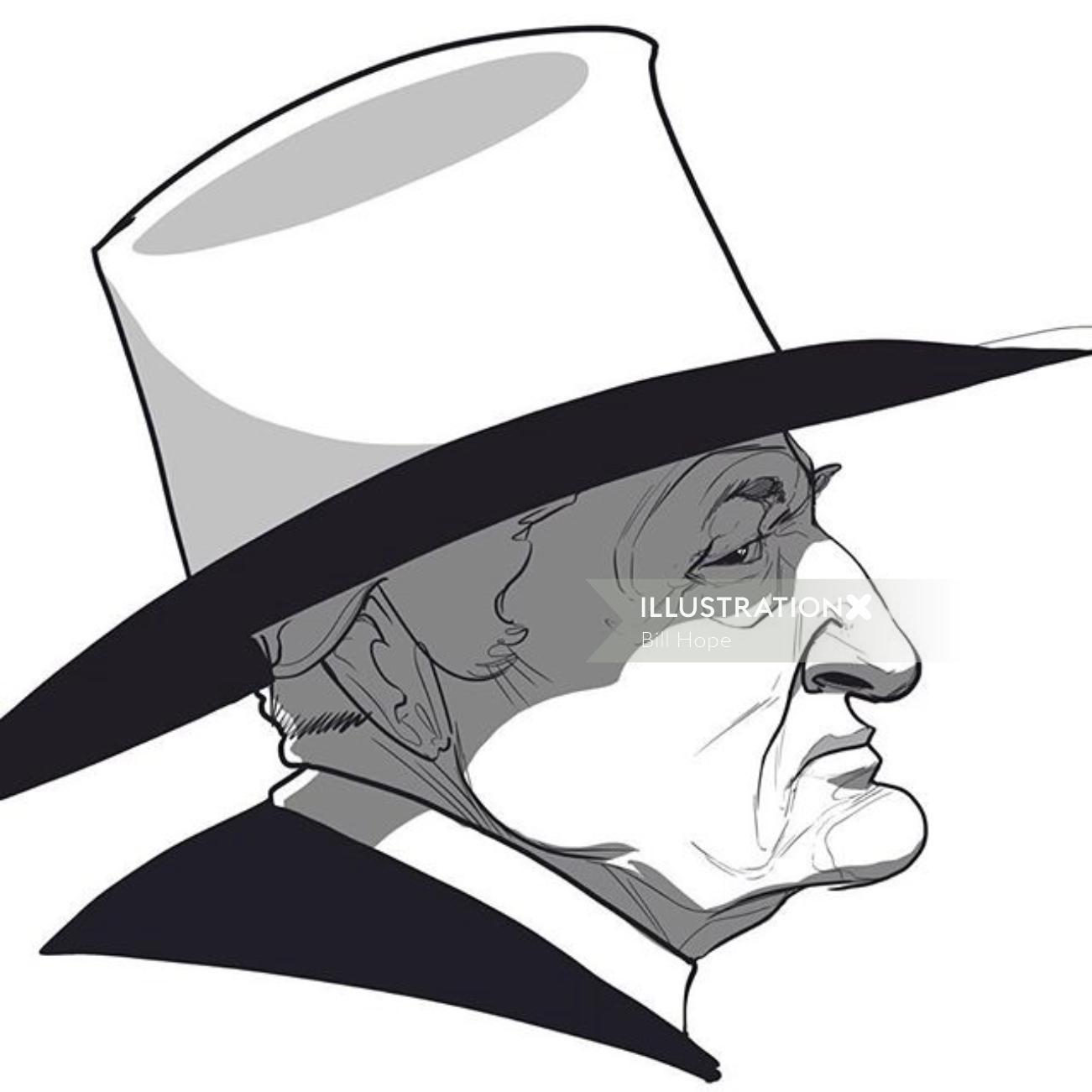 Caricature of Bob Katter